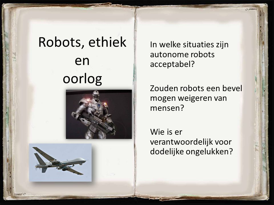 Robots, ethiek en oorlog