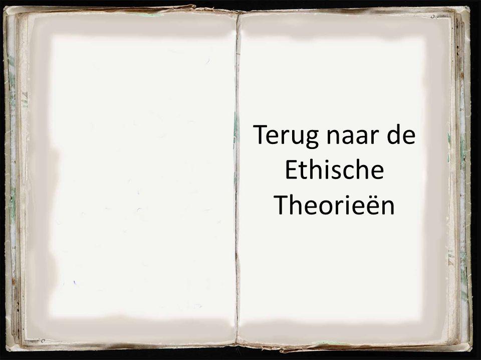 Terug naar de Ethische Theorieën