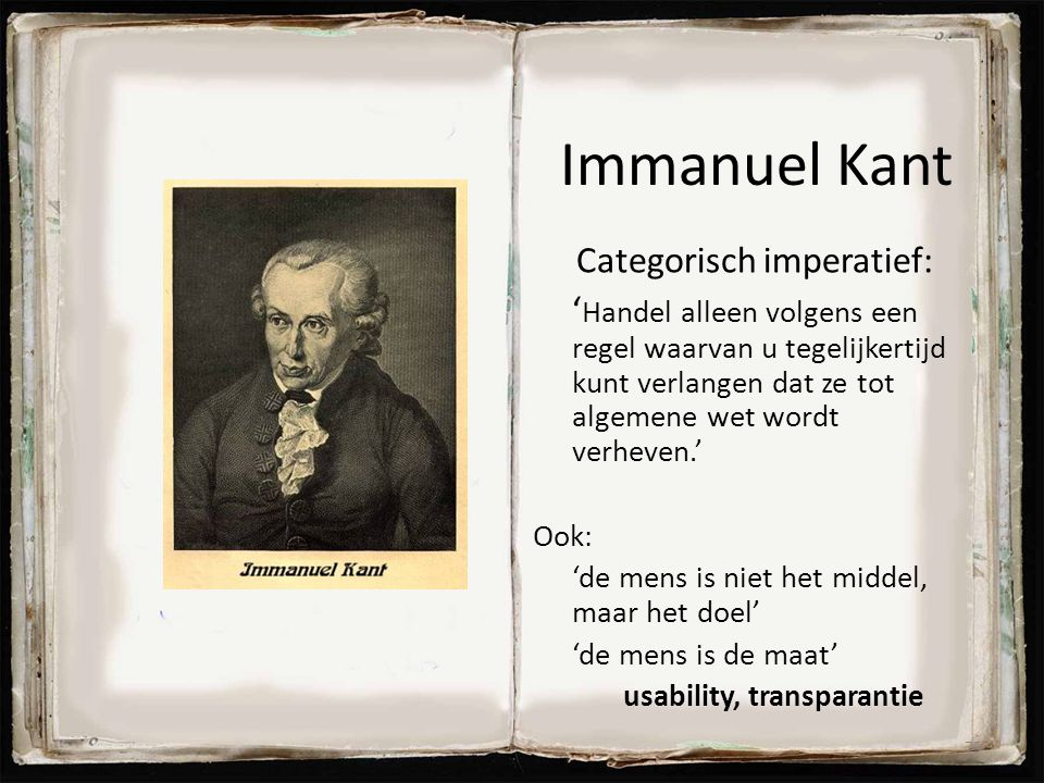 Immanuel Kant Categorisch imperatief: