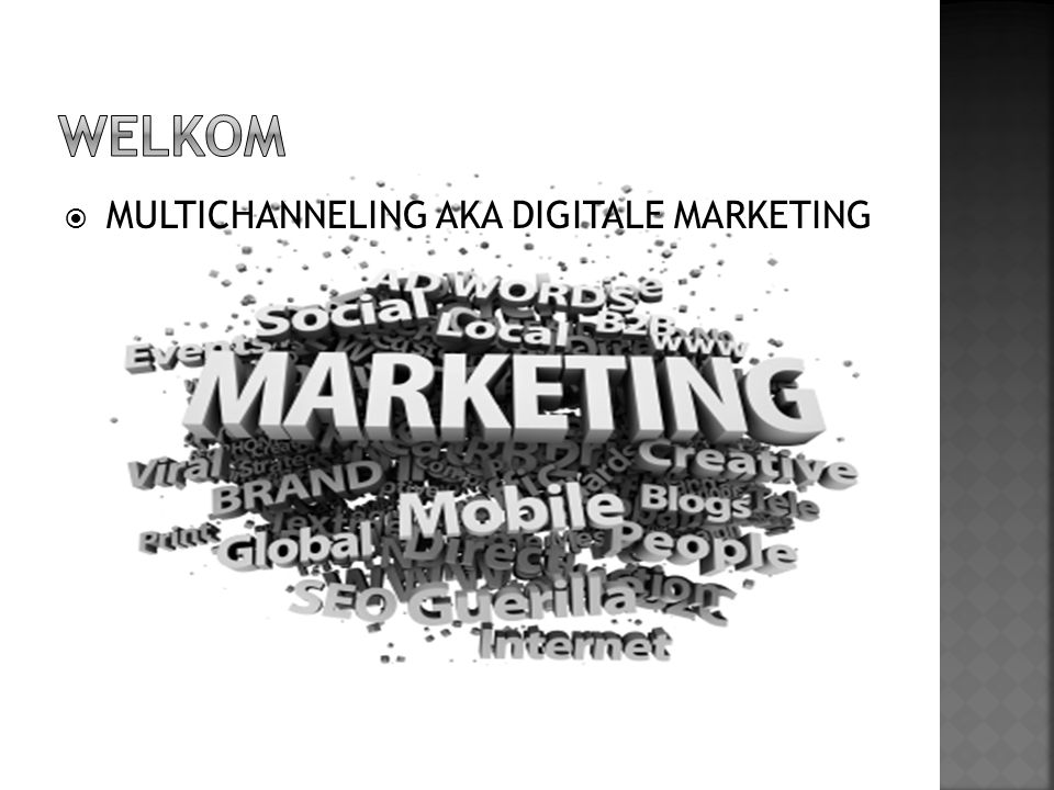 WELKOM MULTICHANNELING AKA DIGITALE MARKETING