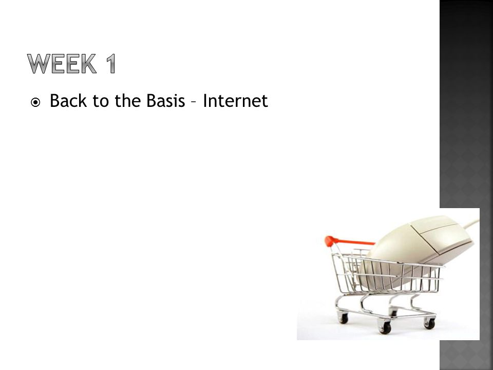 WEEK 1 Back to the Basis – Internet