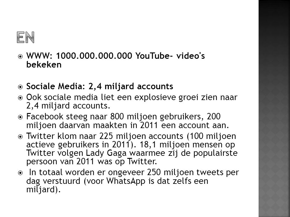 EN WWW: 1000.000.000.000 YouTube- video s bekeken