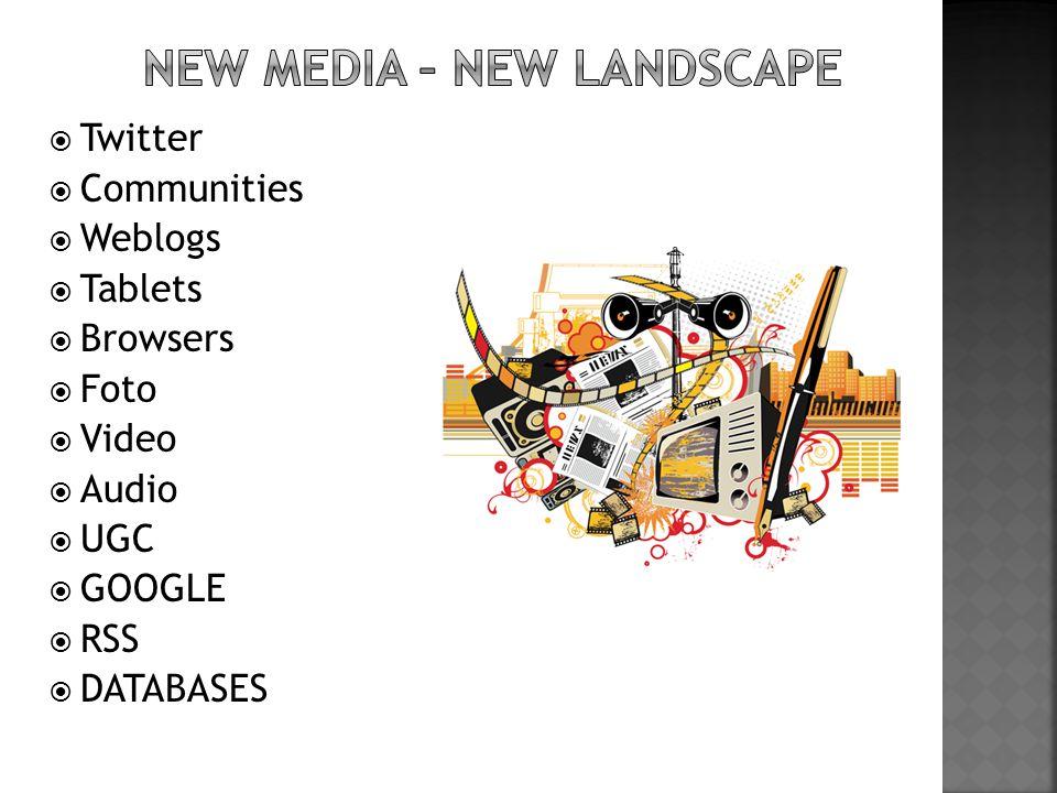 NEW MEDIA – NEW LANDSCAPE