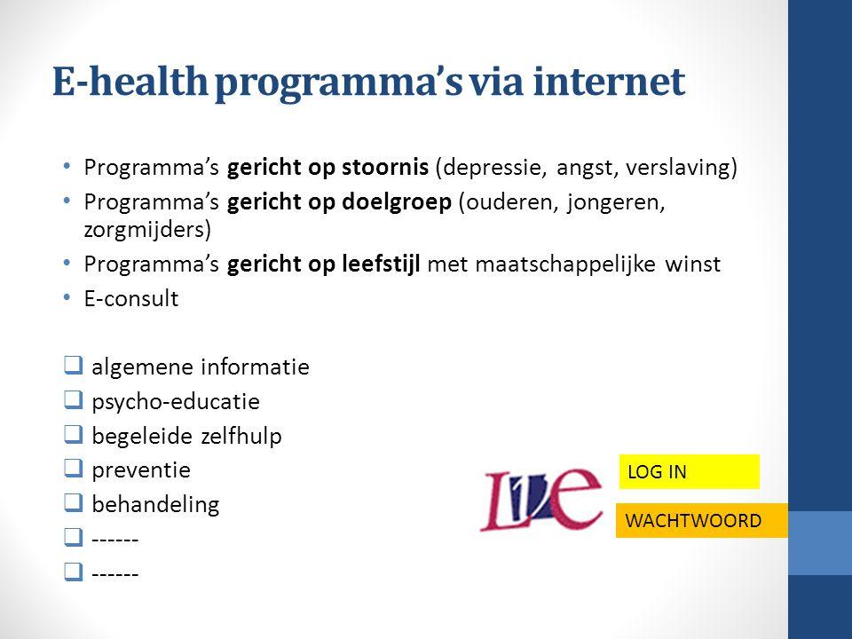E-health programma's via internet