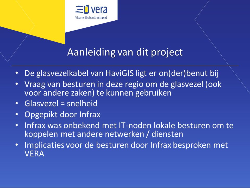 Aanleiding van dit project
