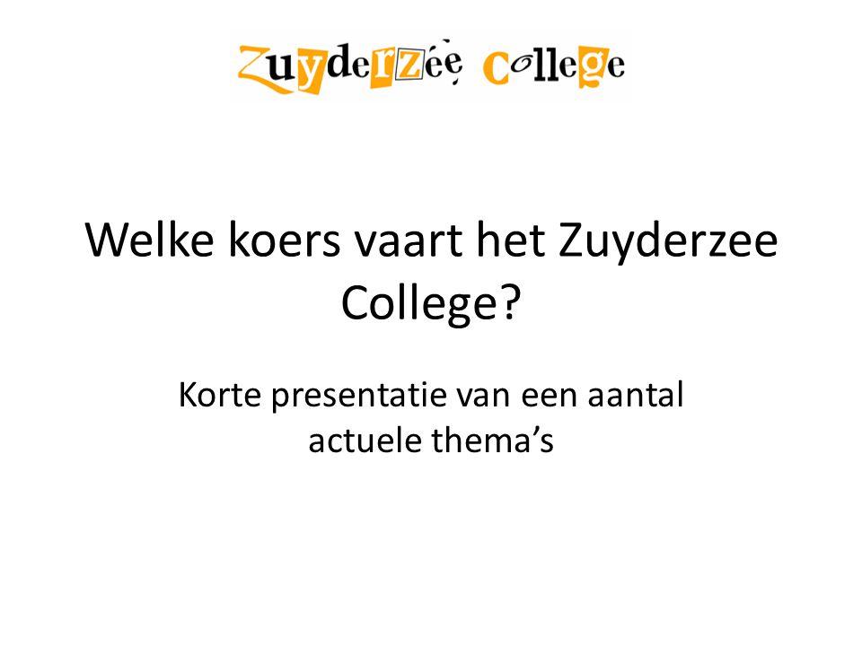 Welke koers vaart het Zuyderzee College