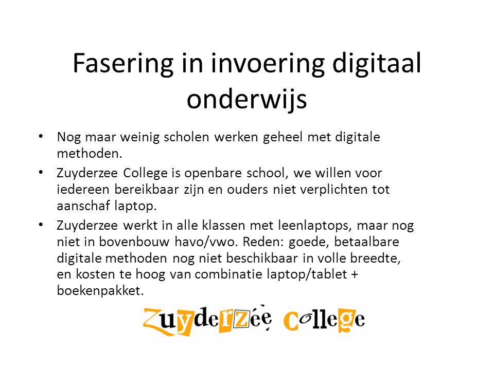 Fasering in invoering digitaal onderwijs
