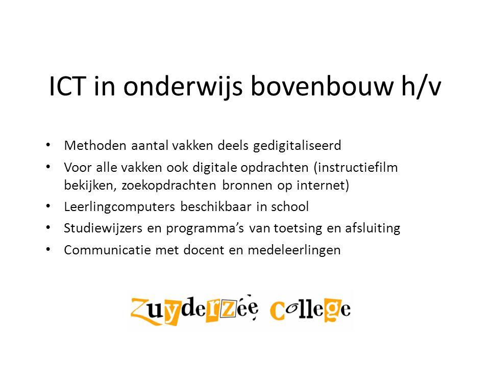 ICT in onderwijs bovenbouw h/v