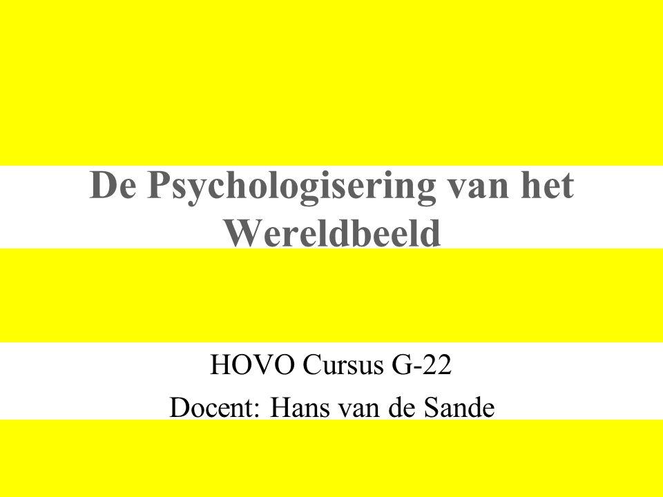 De Psychologisering van het Wereldbeeld