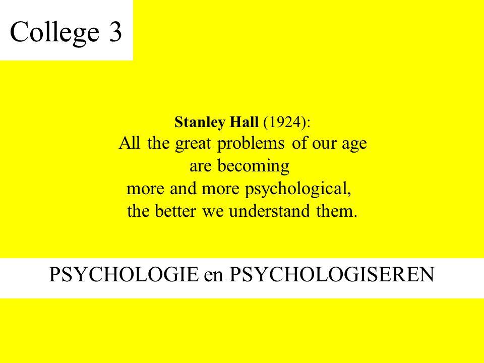 PSYCHOLOGIE en PSYCHOLOGISEREN