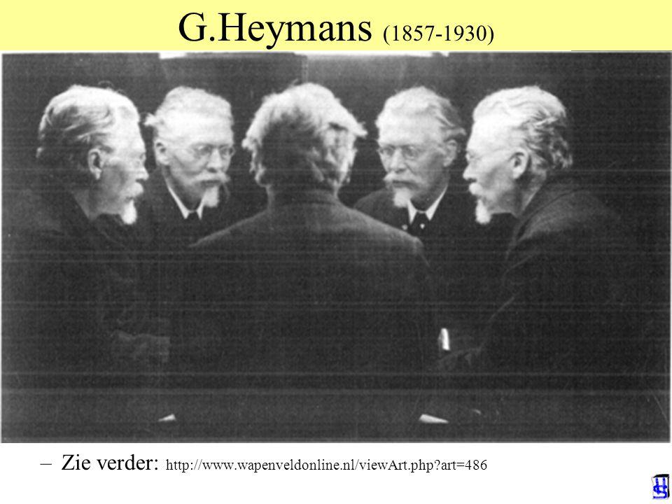 G.Heymans (1857-1930) De toekomstige eeuw der psychologie. Rede 1909