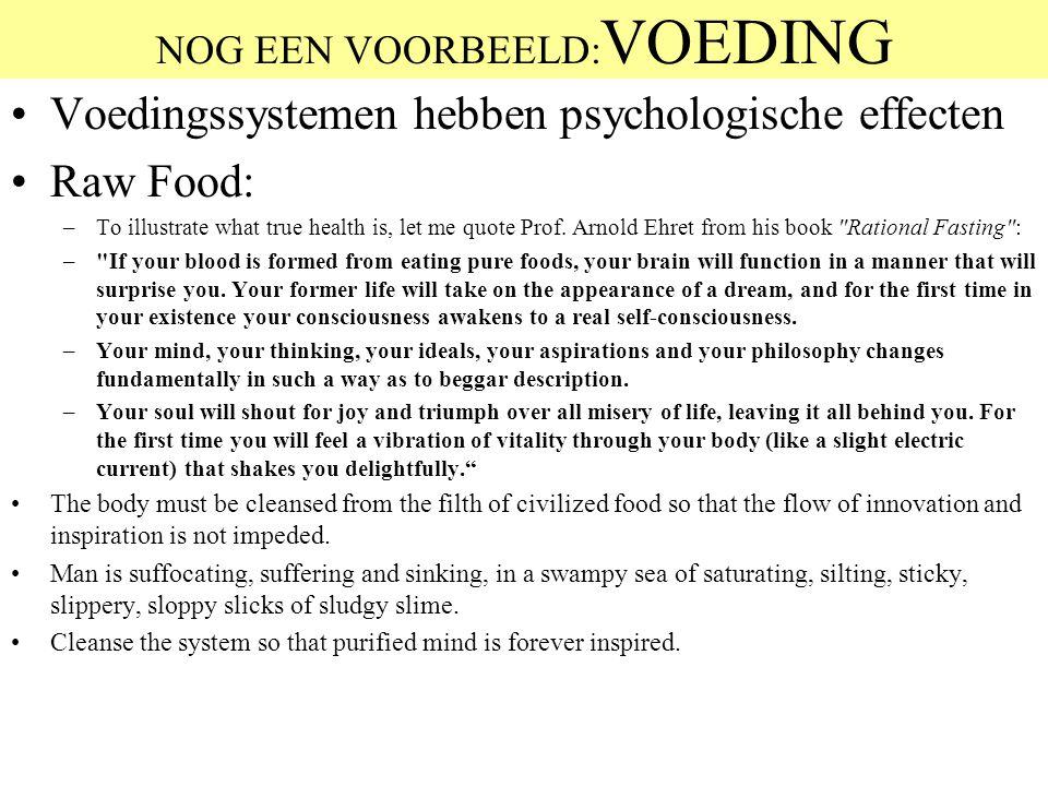 NOG EEN VOORBEELD:VOEDING