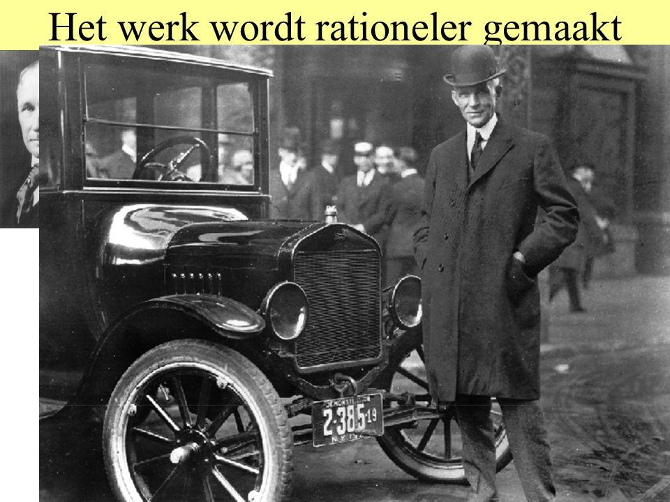 Het werk wordt rationeler gemaakt