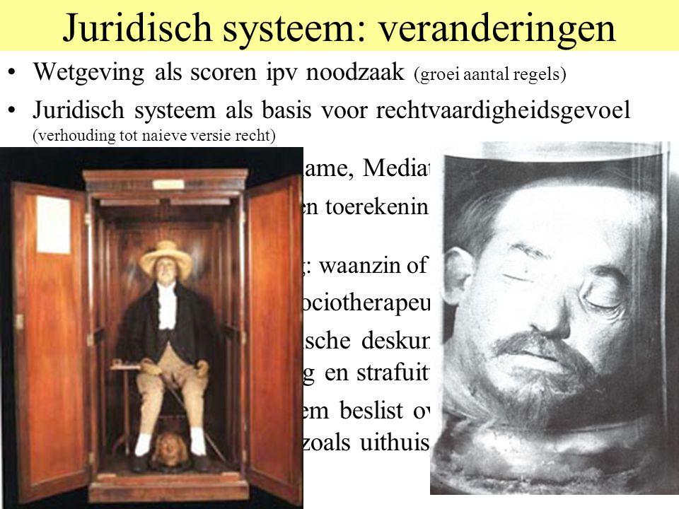 Juridisch systeem: veranderingen