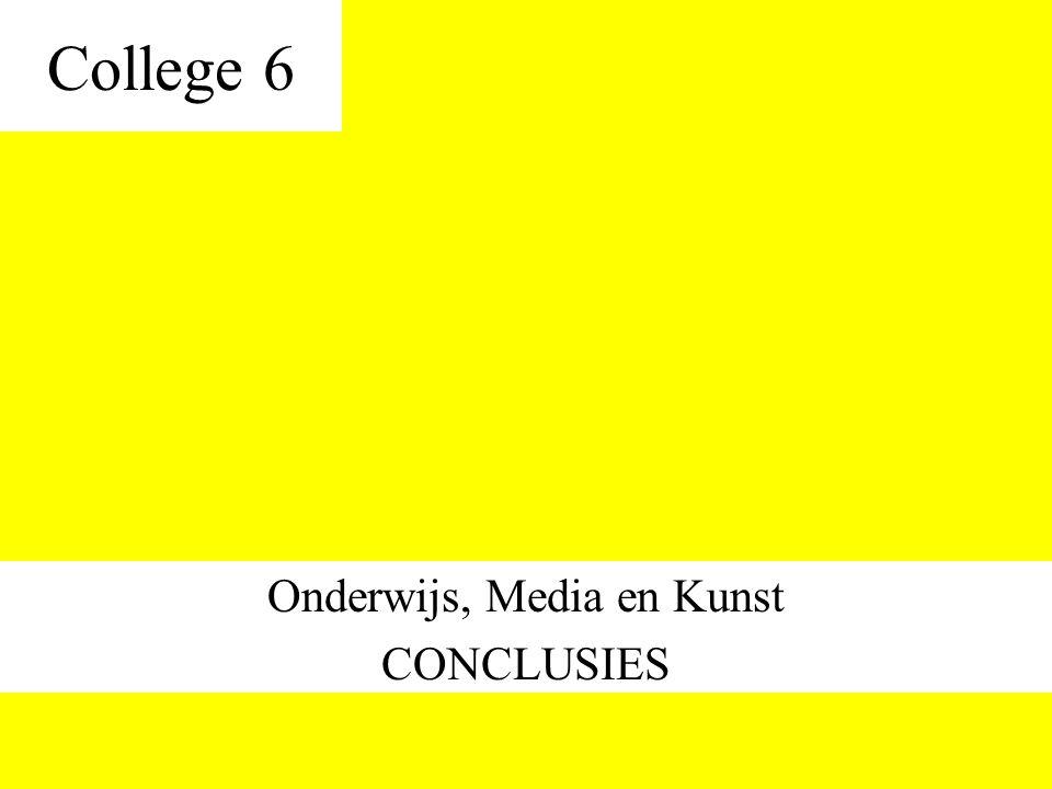 Onderwijs, Media en Kunst CONCLUSIES