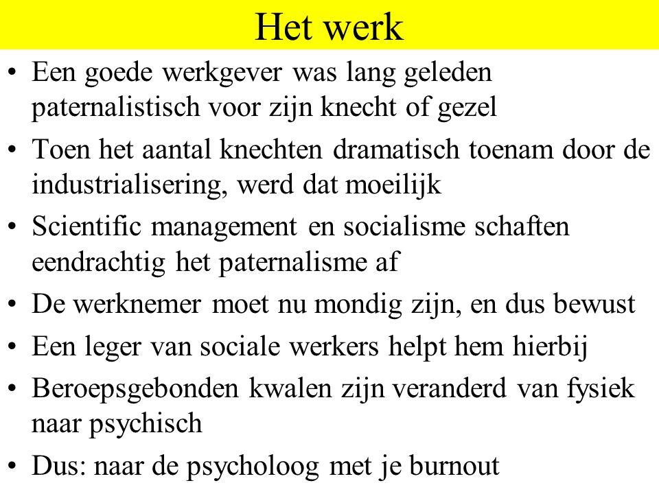 Het werk Een goede werkgever was lang geleden paternalistisch voor zijn knecht of gezel.
