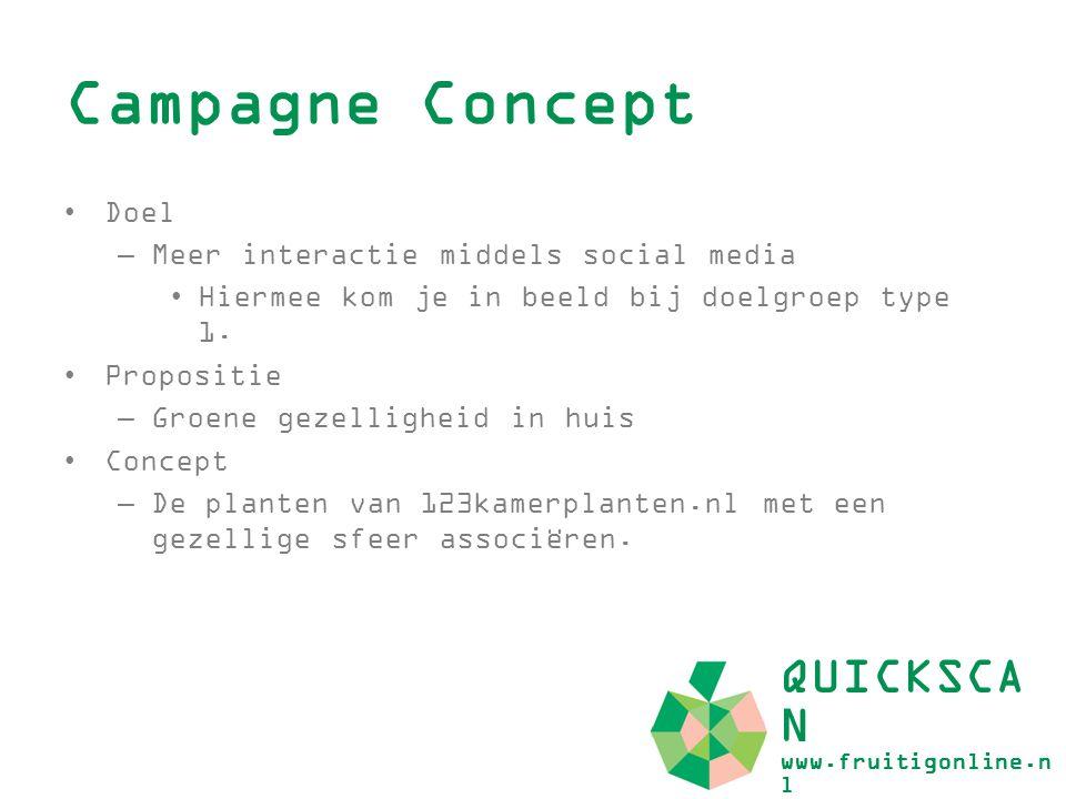 Campagne Concept QUICKSCAN www.fruitigonline.nl Doel