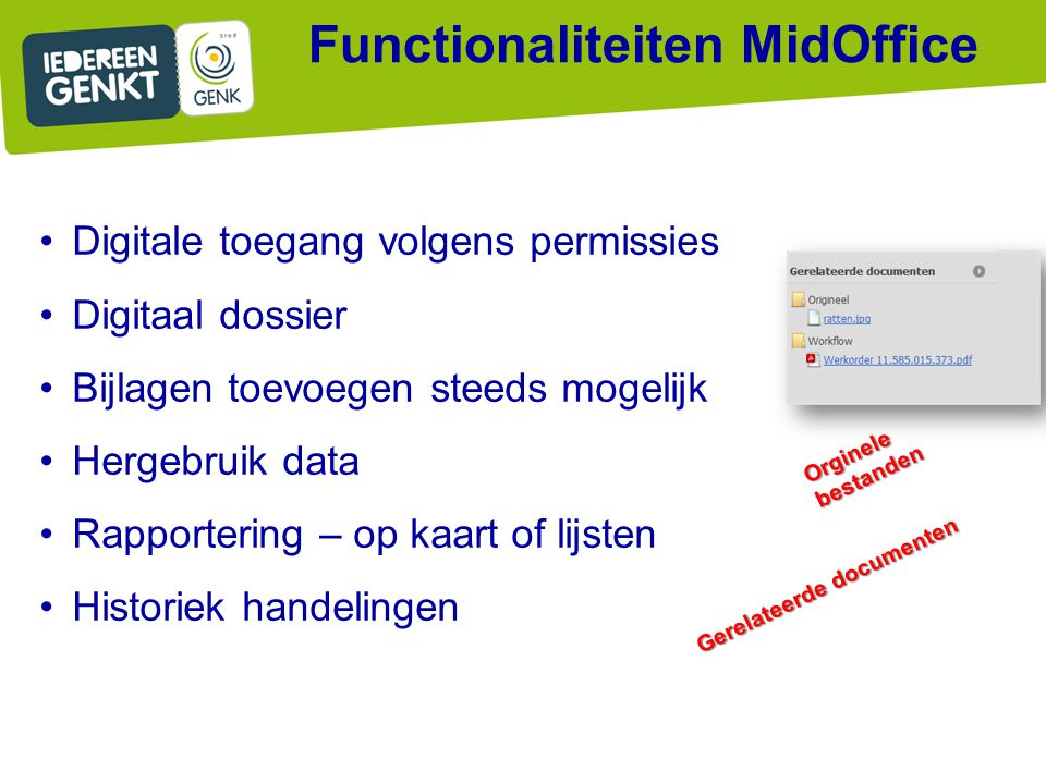 Functionaliteiten MidOffice