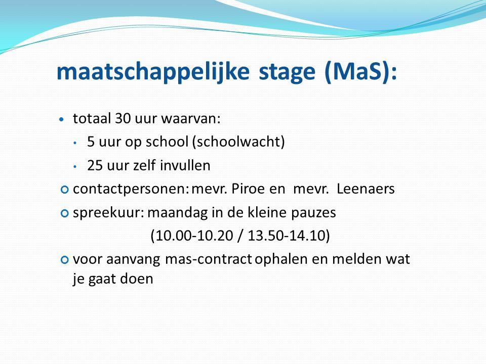 maatschappelijke stage (MaS):