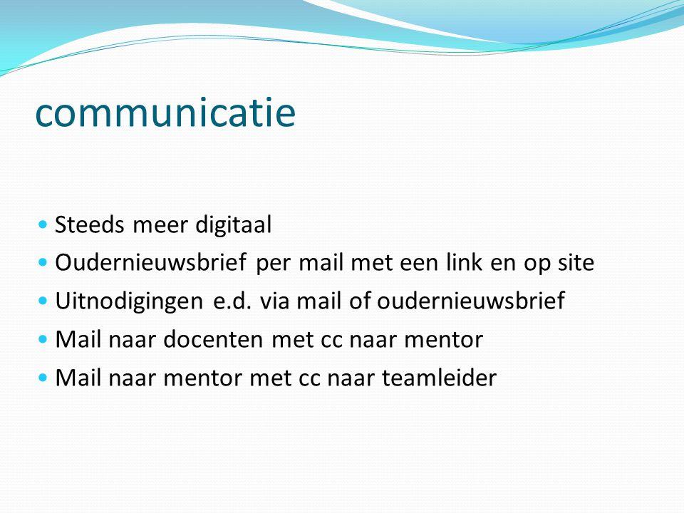 communicatie Steeds meer digitaal