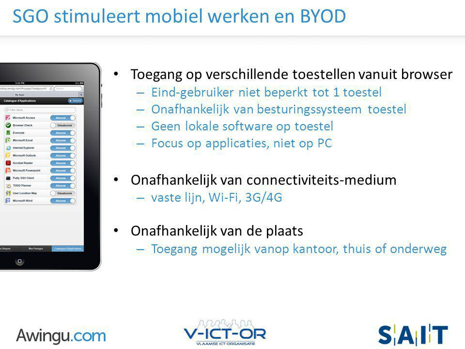 SGO stimuleert mobiel werken en BYOD
