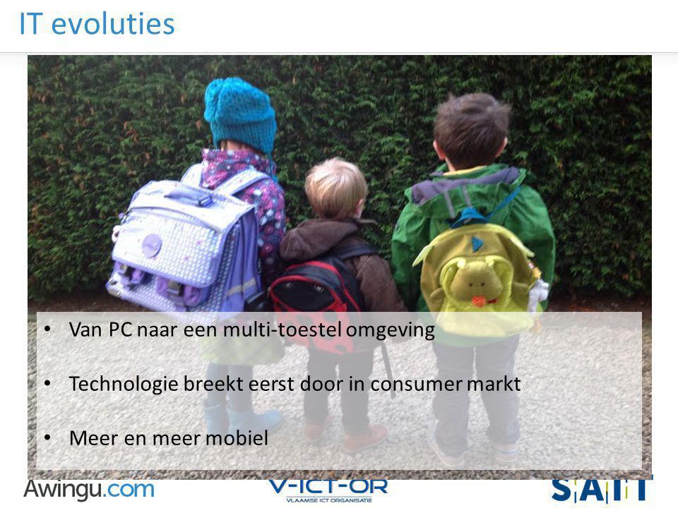 IT evoluties Van PC naar een multi-toestel omgeving