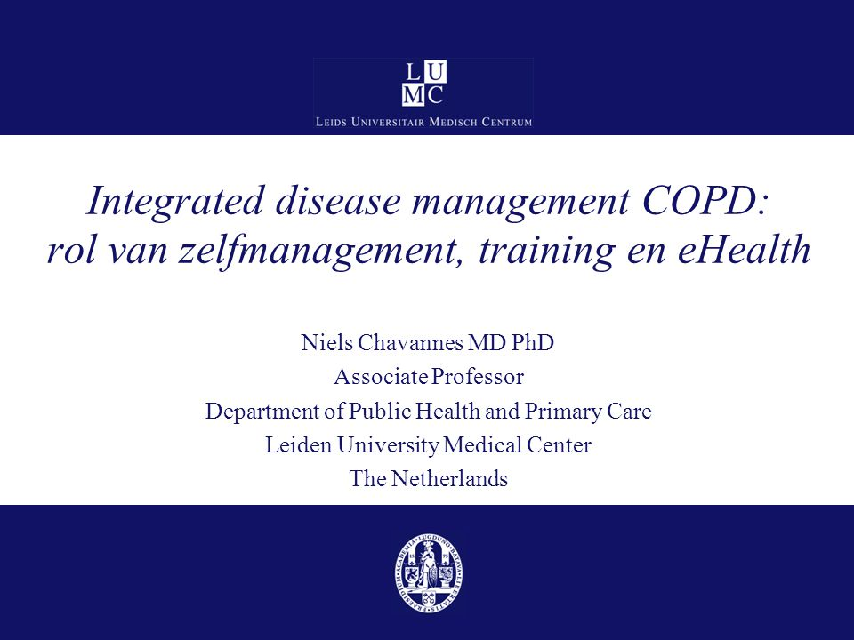 Integrated disease management COPD: rol van zelfmanagement, training en eHealth