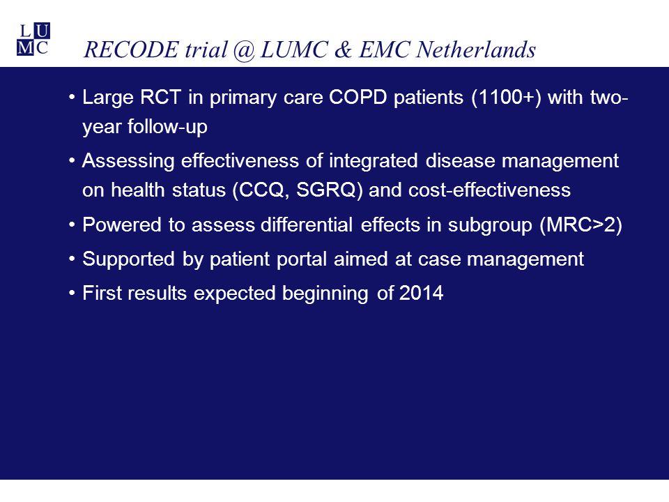 RECODE trial @ LUMC & EMC Netherlands