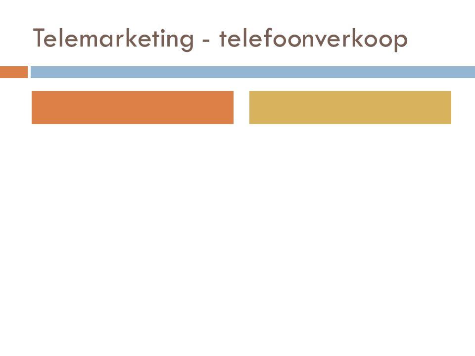 Telemarketing - telefoonverkoop