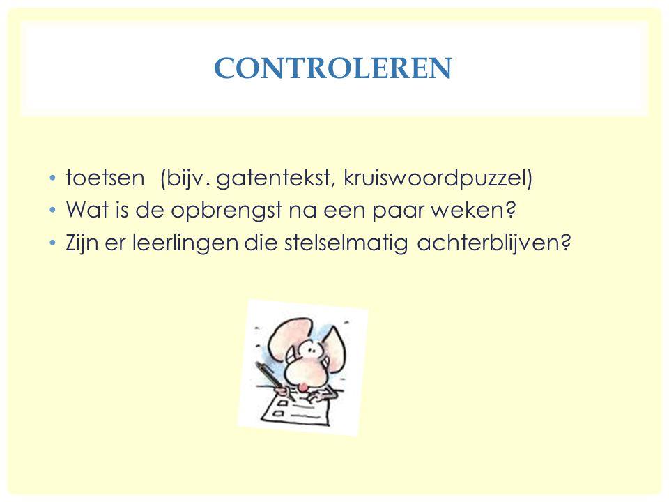 Controleren toetsen (bijv. gatentekst, kruiswoordpuzzel)