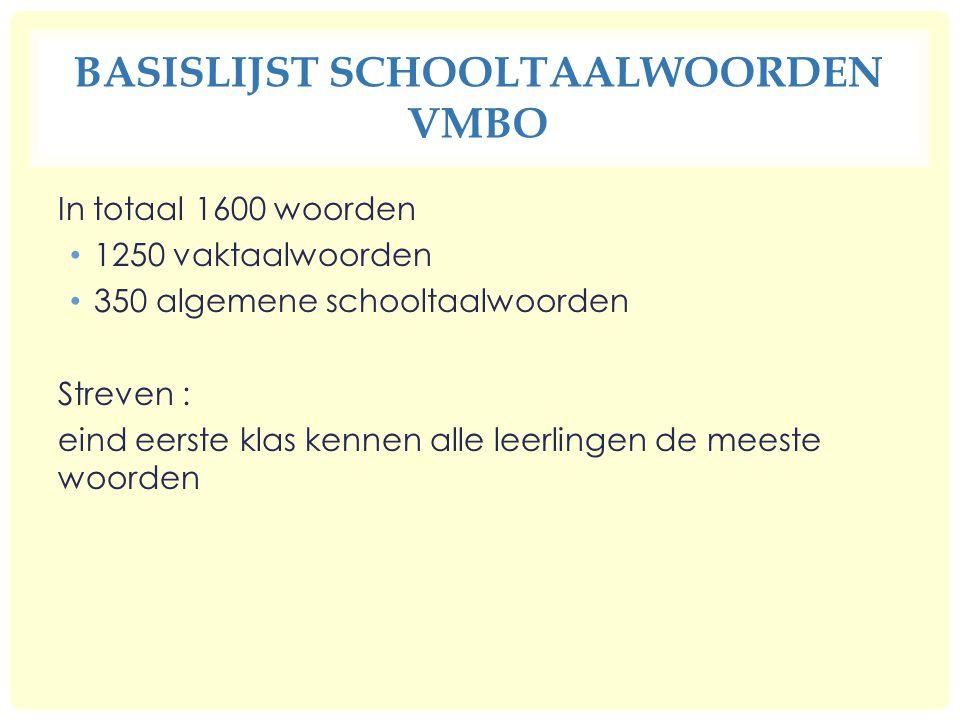 Basislijst schooltaalwoorden vmbo