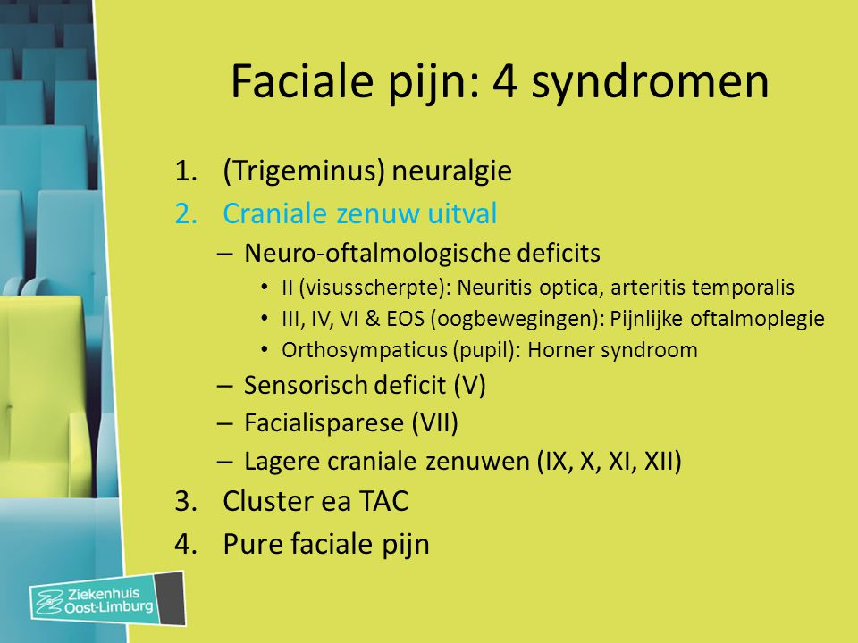 Faciale pijn: 4 syndromen