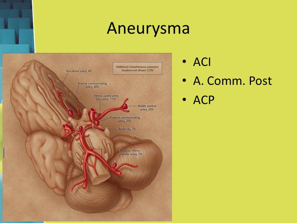 Aneurysma ACI A. Comm. Post ACP