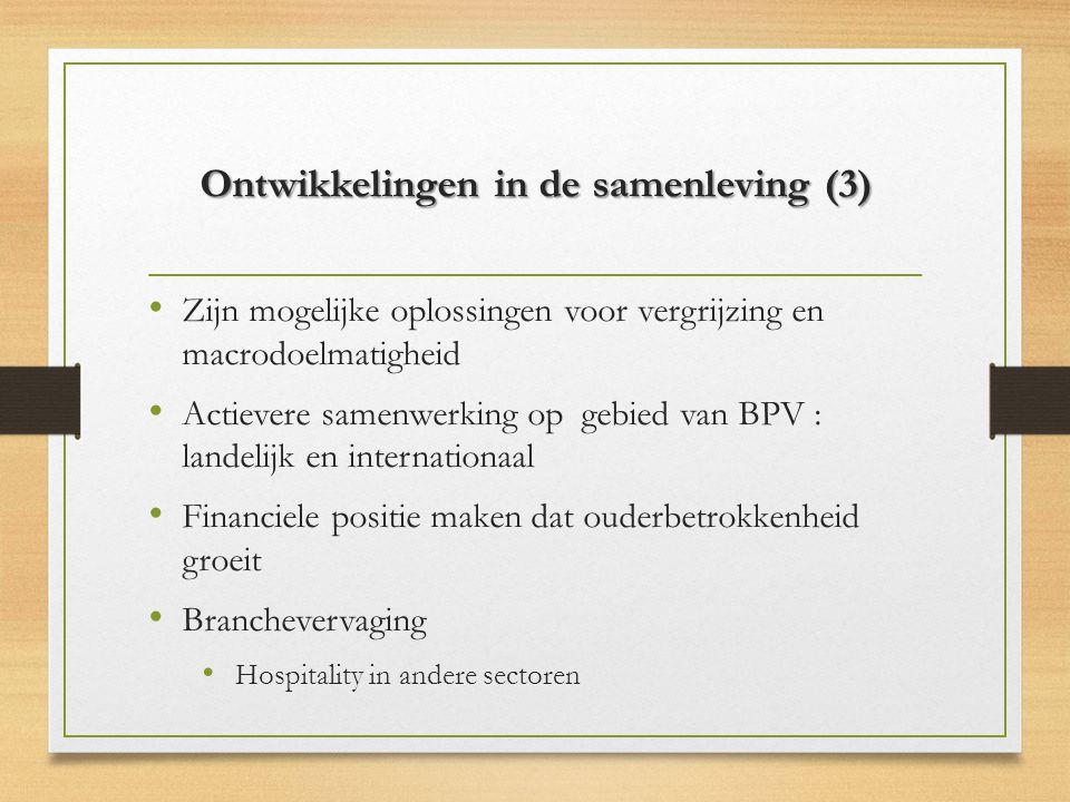Ontwikkelingen in de samenleving (3)