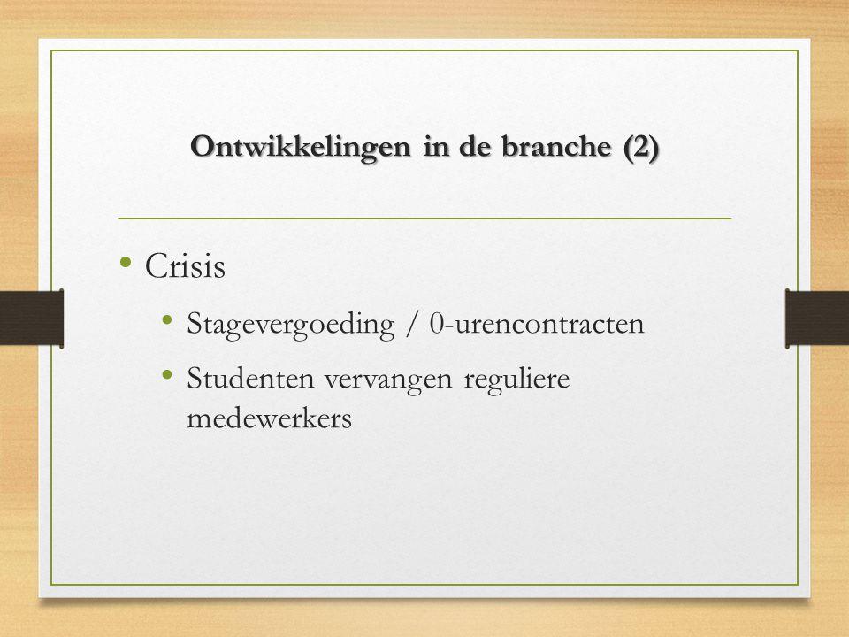 Ontwikkelingen in de branche (2)
