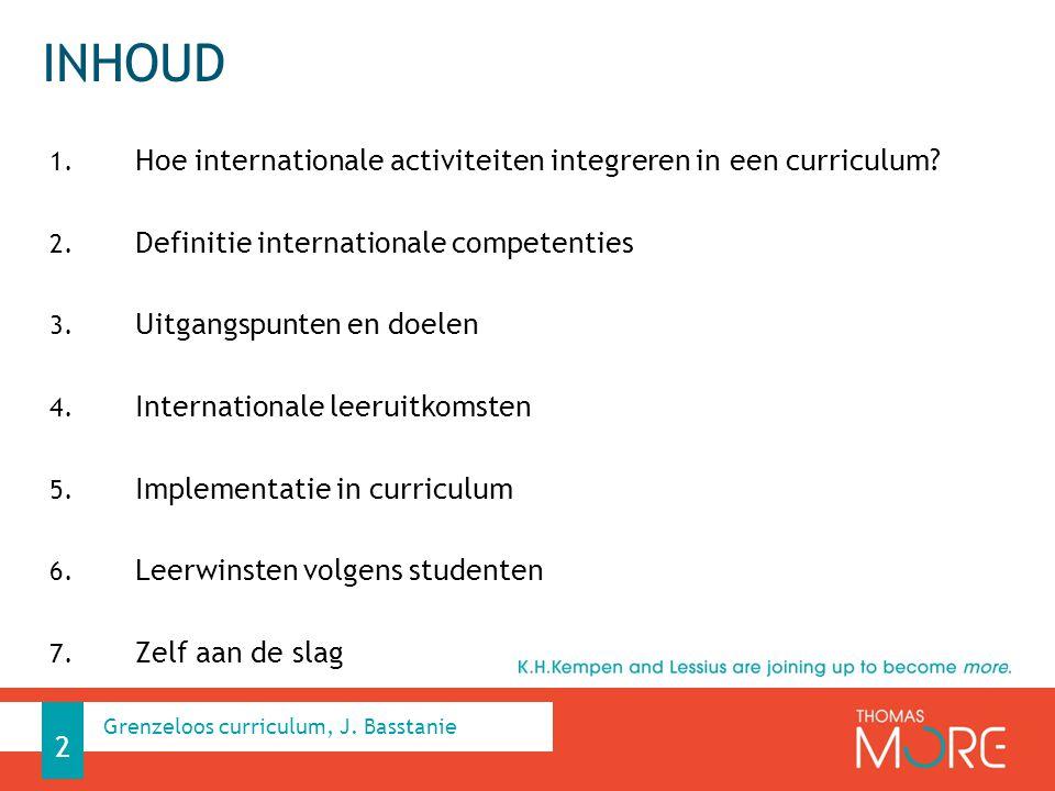 Inhoud Hoe internationale activiteiten integreren in een curriculum