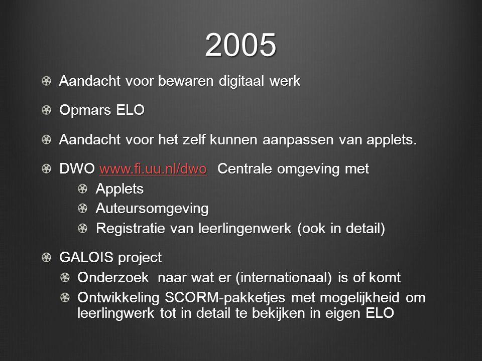 2005 Aandacht voor bewaren digitaal werk Opmars ELO