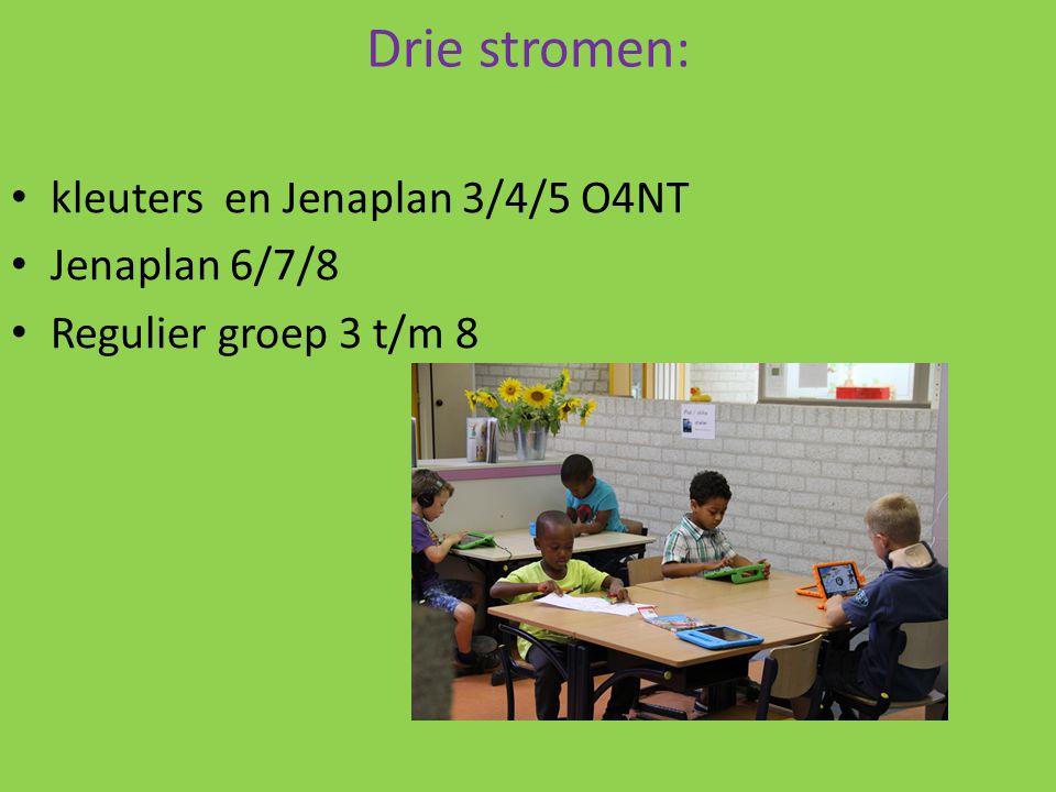 Drie stromen: kleuters en Jenaplan 3/4/5 O4NT Jenaplan 6/7/8