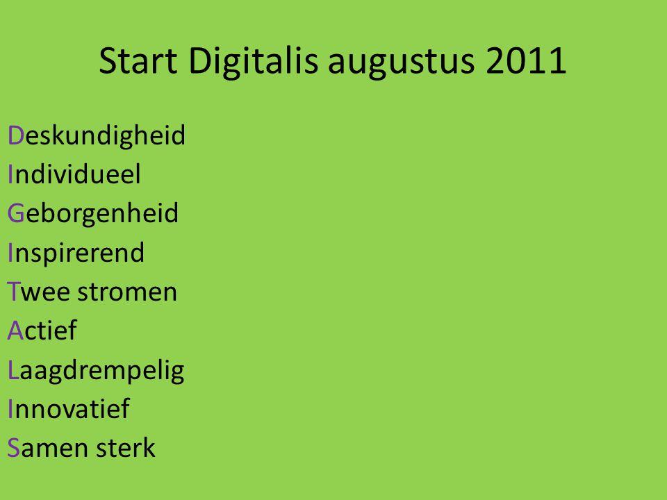 Start Digitalis augustus 2011