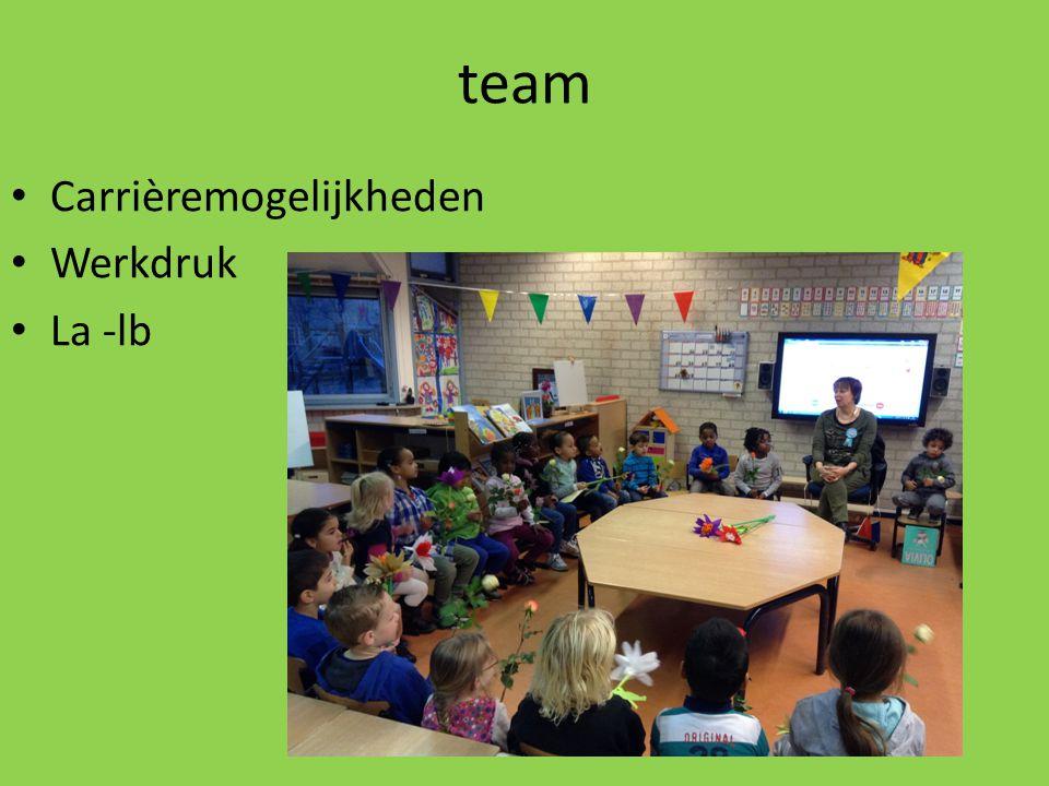 team Carrièremogelijkheden Werkdruk La -lb