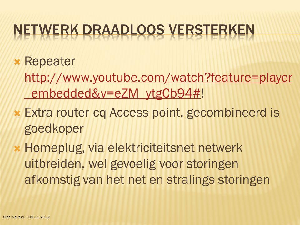 Netwerk draadloos versterken