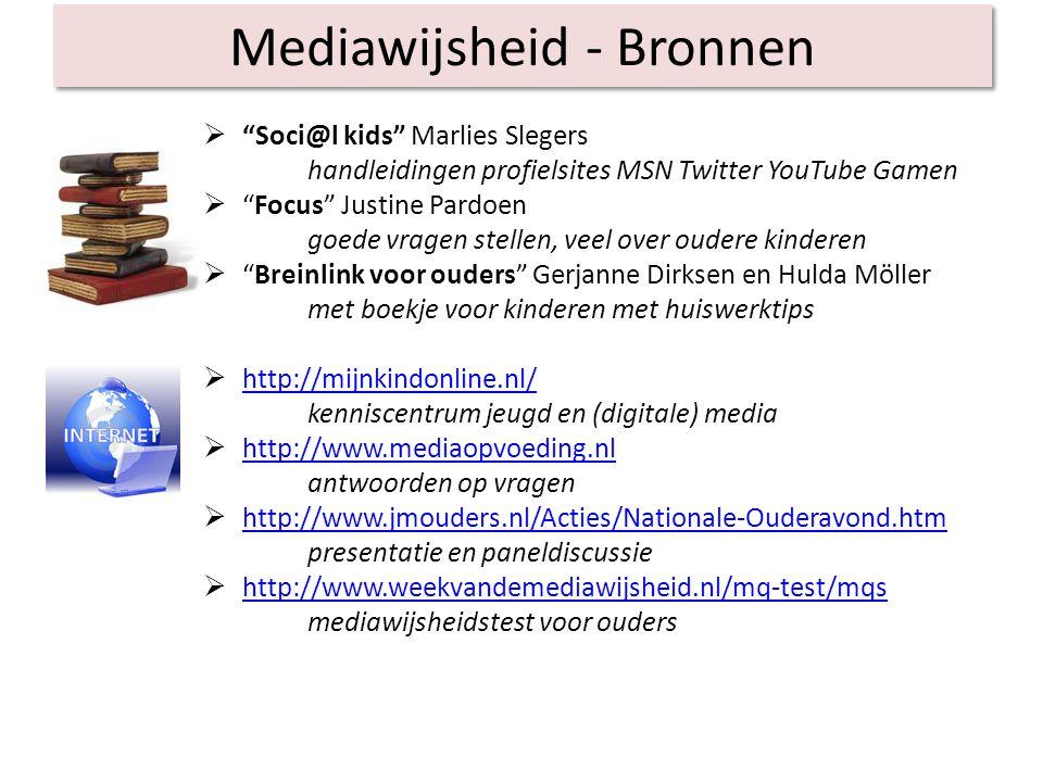 Mediawijsheid - Bronnen
