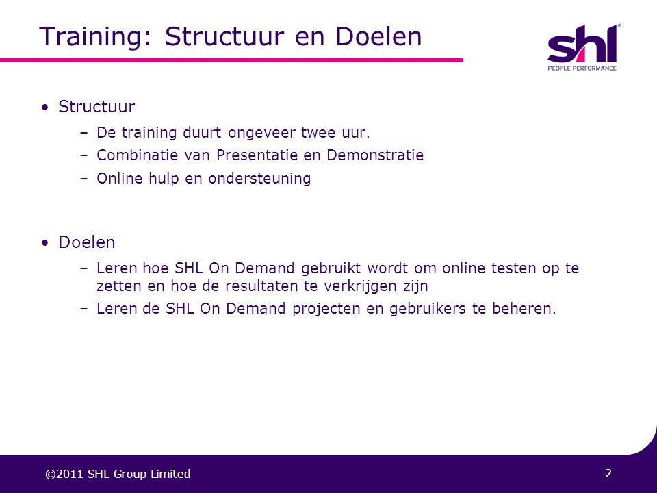 Training: Structuur en Doelen