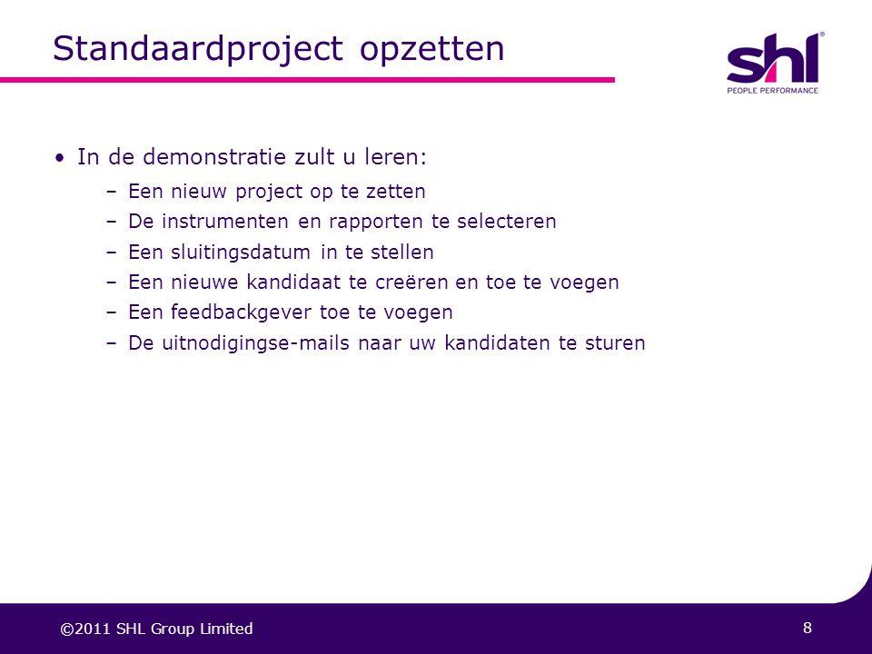 Standaardproject opzetten
