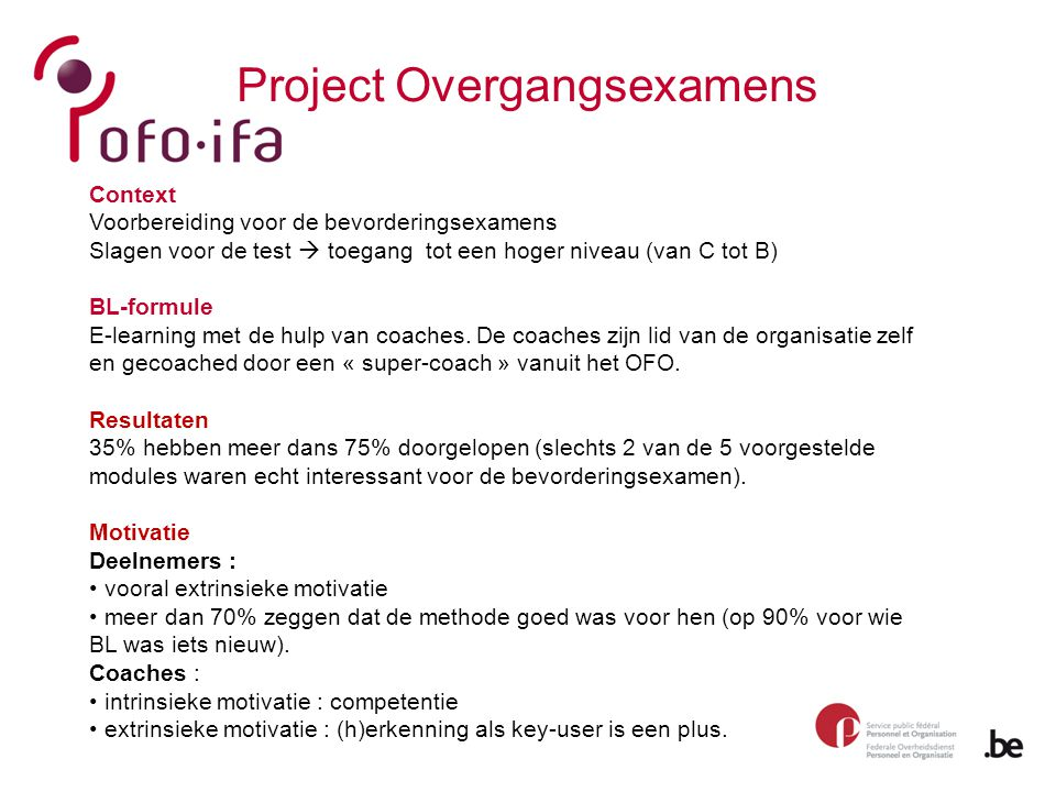 Project Overgangsexamens