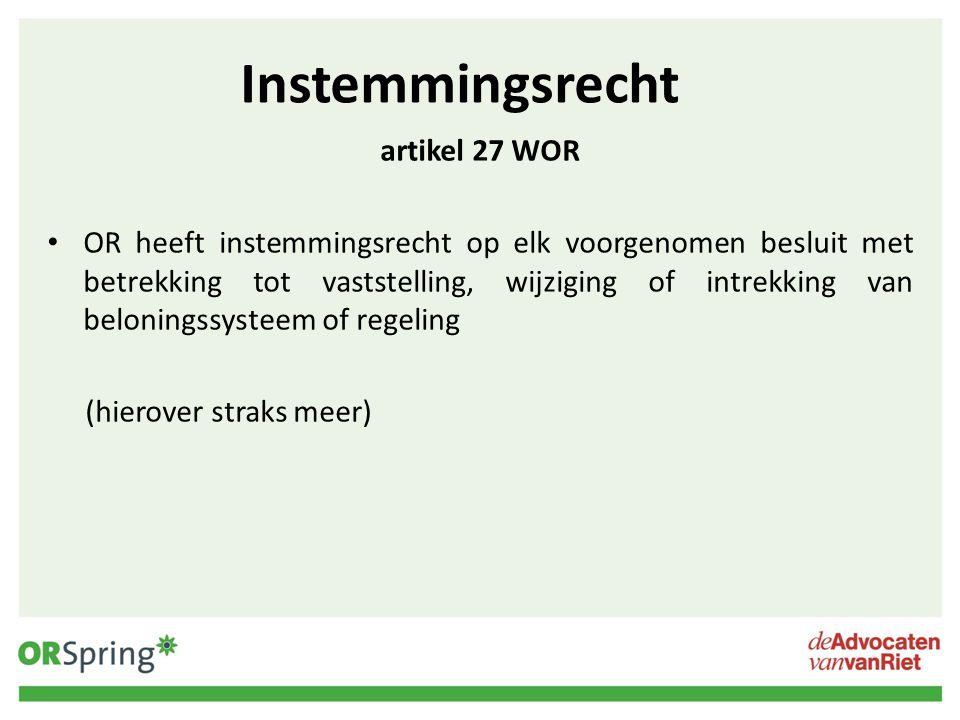 Instemmingsrecht artikel 27 WOR