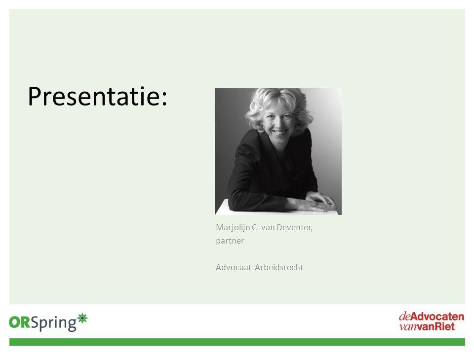 Marjolijn C. van Deventer, partner Advocaat Arbeidsrecht
