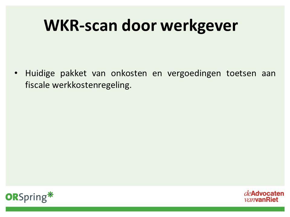 WKR-scan door werkgever