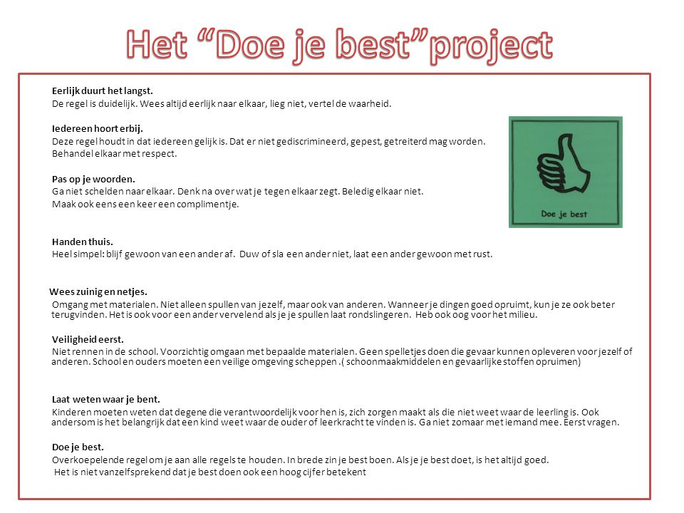 Het Doe je best project