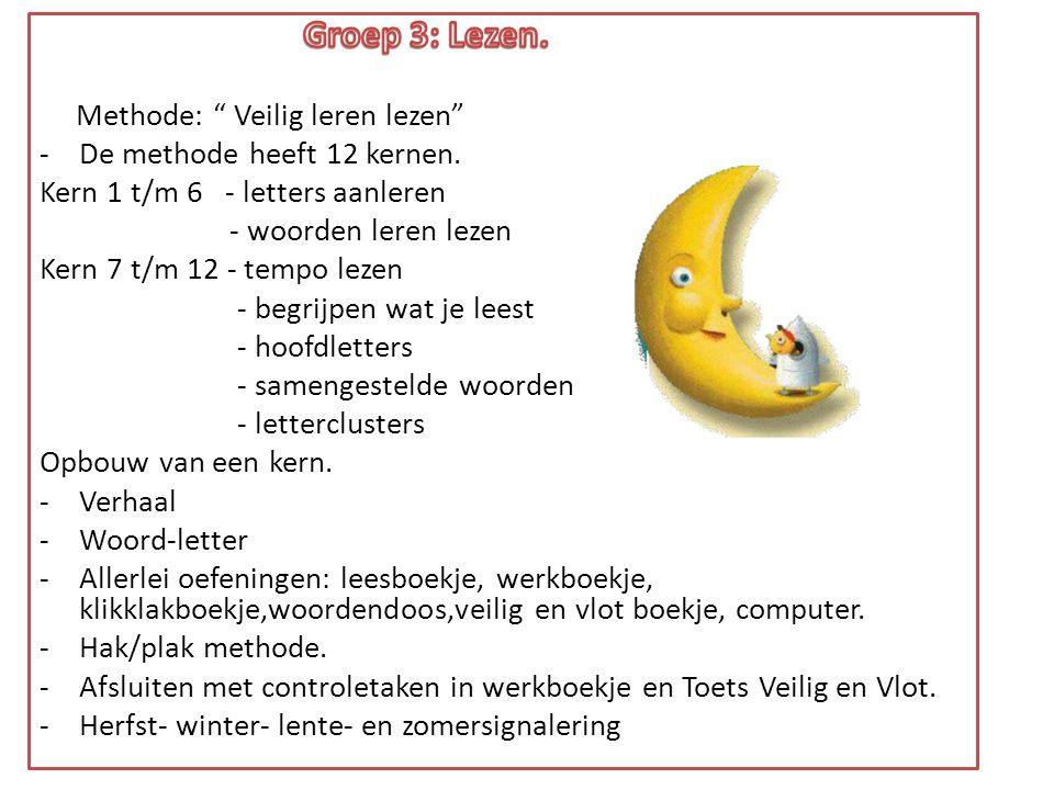 Groep 3: Lezen. Methode: Veilig leren lezen